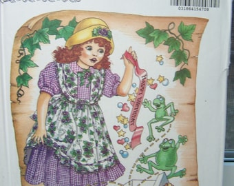 Butterick 6604 Toddler Girl's Sewing Pattern, SALE Toddler Pinafore and Full Skirt Dress, Children's Butterick Pattern Girl's Size 2 - 6