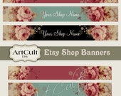 ETSY SHOP BANNERS Set No9 - Multipurpose digital images/ Printable Download/ Digital Collage Sheets/ Bookmarks/ Paper Goods