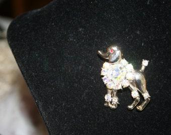 Vintage Poodle Brooch