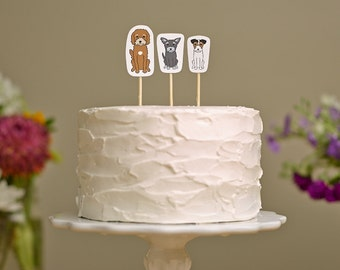 Wedding Cake Topper | Custom Pet Cake Topper | Wedding Cake Topper with Dog | Wedding Cake Topper with Cat | Custom Cake Topper