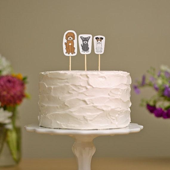Wedding Cake Topper | Custom Pet Cake Topper | Wedding Cake Topper with Dog | Wedding Cake Topper with Cat | Custom Cake Topper
