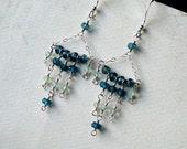 London Blue Topaz Earrings, Aquamarine Earrings, Sterling Silver - Gypsy by CircesHouse on Etsy