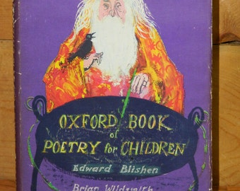 Brian Wildsmith 1st Ed. Oxford Book of Poetry for Children Edward Blishen 1963 FIRST EDITION, CrabbyCats, Crabby Cats