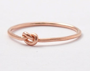 Knot Promise Ring: Solid 14K Rose Gold Ring