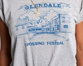 The Vintage Glendale California Crossing Festival Heather Grey Tee