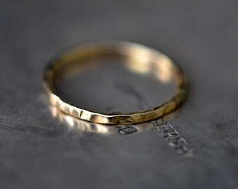14k gold wave ring, wedding band, stacking ring yellow or rose gold