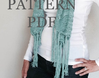 Instant Download Knitting PDF PATTERN - Une Echarpe Trouee - scarf neckwarmer - PDF knitting pattern