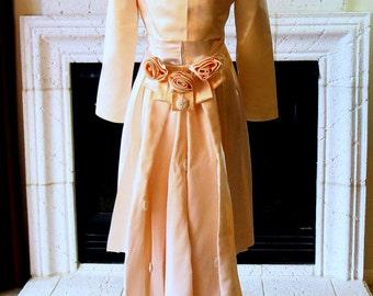 Satin Three Piece Wedding Suit