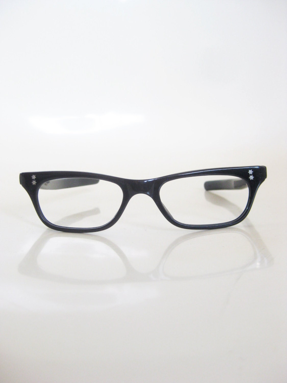 vintage cat eye reading glasses half moon by