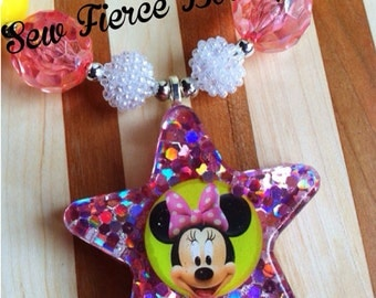 Girly Mouse Chunky Necklace - Photo Prop - Dress Up