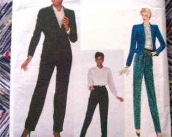 Vogue 2249 Anne Klein American Designer Vintage Sewing Pattern Pants Blouse Jacket 1970s   Bust 36 inches