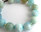 Yoga Jewelry - Blue Agate Healing Stone Energy Bracelet