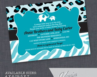 DIY Printable Invitation - Safari Baby Shower Invitation, Jungle Baby Shower, Party Invitation....by Maxim Creative Invites