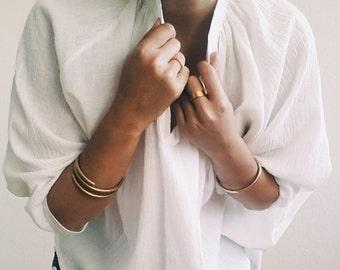 Double Wrap Brass Bracelet