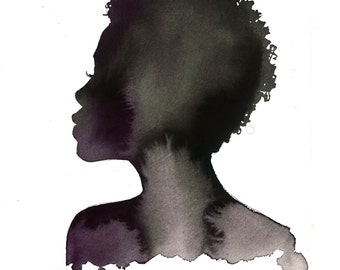 Toni, print from original watercolor and pen fashion illustration by Jessica Durrant