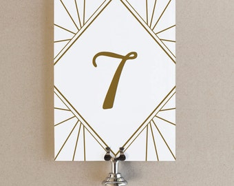 Table Number Templates