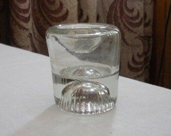 Antique Common Sense Glass Inkwell