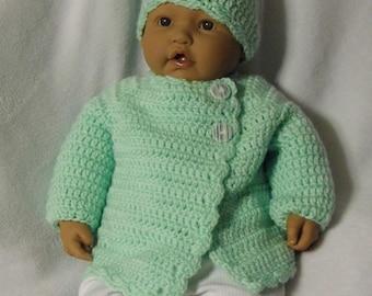 Mint Green Newborn Sweater Set