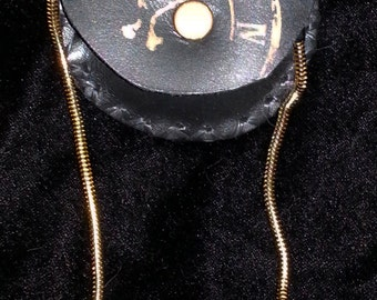 Leather Pocket Watch Case-Steampunk-Edwardian