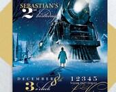 Polar Express Party Invitation – Custom Printable PDF - Winter Birthday - Train Birthday
