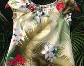 Girls Hawaiian Dress Muu Muu Tropical Floral