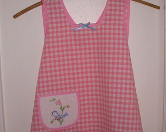 Bluebird of Happiness Toddler's Cross Back Apron Dress, Size 2