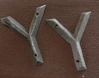 Letter Y Marker Tag Art Deco Retro Mid Century Vintage Hardware