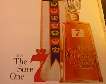 Vintage Ad - Seagrams Seven Crown Whiskey ad from 1960s - Original ad