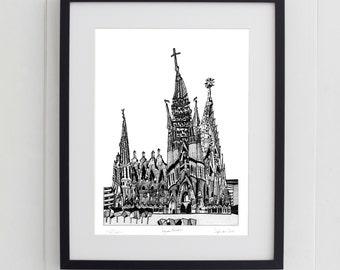 Sagrada Familia, Barcelona Print