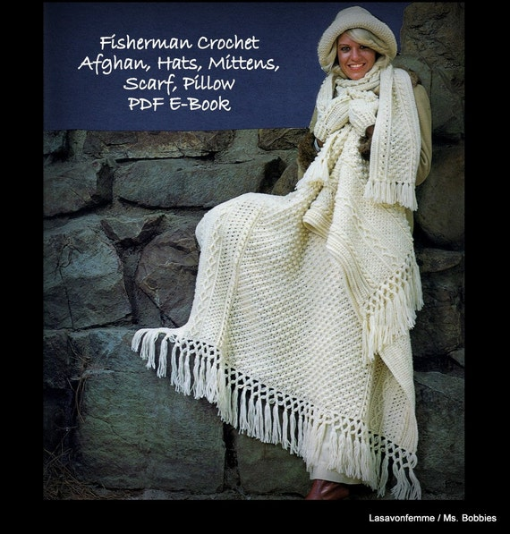 Crochet Book Aran Patterns - PDF 0321106 - Afghan Hats Scarf Mittens ...