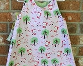 Little Red Riding Bunny Girl's Reversible Dress Sized 2T Ready to Ship