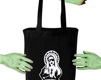 Voodoo Sugar Our Lady Gaga Black Tote Bag
