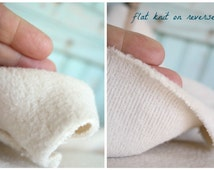 Organic Sherpa Yard Yardage Baby Soft Cream Organic Cotton Fabric Domestically Made GOTS Certified