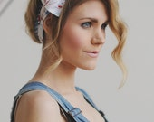 Nautical Pattern Vintage Floral Headband