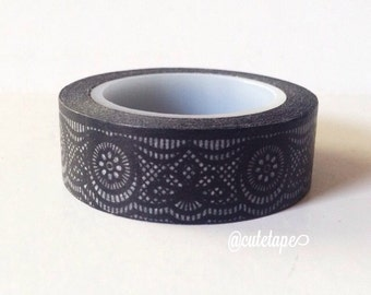 Black Lace Washi Tape Wedding, Scrapbooking