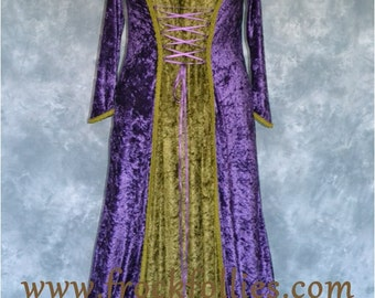 "Medieval Dress, Renaissance Gown, Medieval Gown, Robe Medievale, Pre-Raphaelite Dress, Handfasting Dress, Wedding Dress,""Tabitha"""