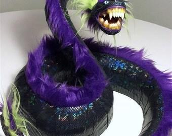 Faux Taxidermy - Ferocious Furry Snake