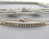 Gold Id Bracelet, Gold bar Bracelet, Engraved bracelet, Personalized Gold Bracelet, Slim Long Bar