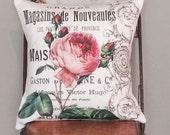 Pillow Cover Pink Garden Rose