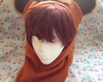 Ewok from Star Wars Fleece Inspired Hood Handmade
