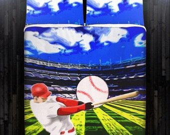 Baseball Bedding Duvet Cover Queen Comforter King Twin XL Size Blanket Sheet Set Baby Crib Toddler