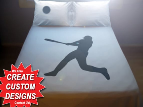 Baseball Duvet Cover Sheet Set Bedding Queen King Twin Size