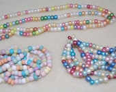 Shop Closing..40% off..Czech Glass Beads, Outstanding and FUN Large Seed Style Beads, Multi Colors/Finishes, 3 Large Strands, B2-4