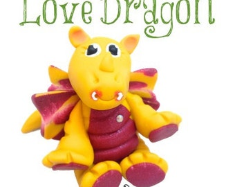Polymer Clay Love Dragon Tutorial - Also for Fondant, Sugar Paste, & Other Sculpting Mediums