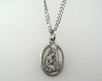 Saint Mary Magdalen Medal Necklace