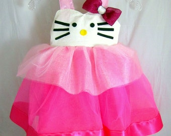 Hello kitty birthday dress – Etsy