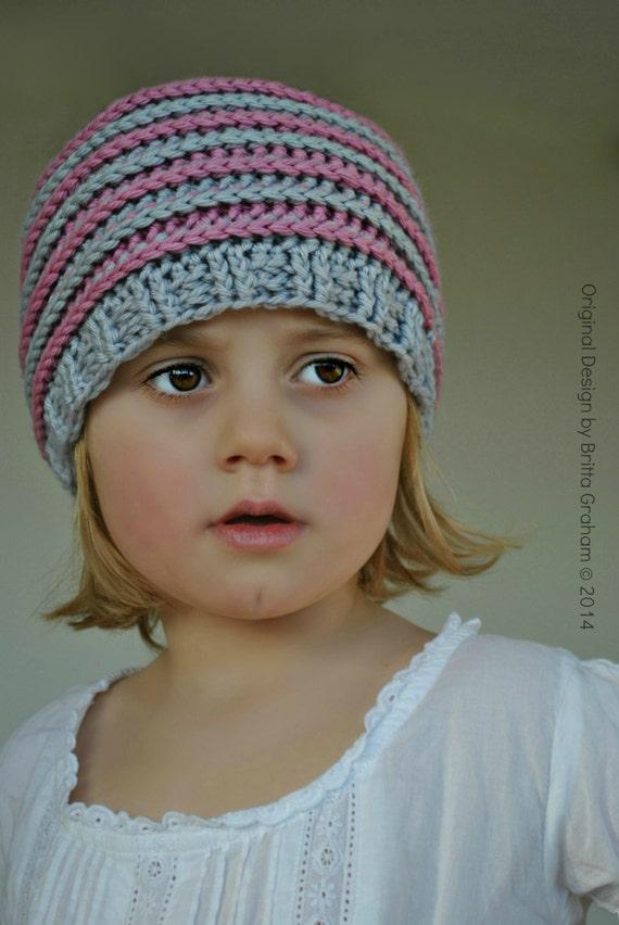 Crochet hat pattern slouchy P306 using Double Knitting DK
