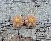 Flower Plugs Gauges Antique Pink Mini Sunflowers