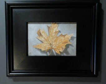 Leaf Three _Original Oil Painting in Wood Frame_Still life