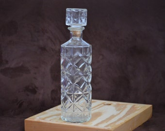Liquor Decanter/Thatcher Manufacturing Company/Whiskey Decanter/Mid Century Barware/Alcohol Decanter/Glass Decanter/1961
